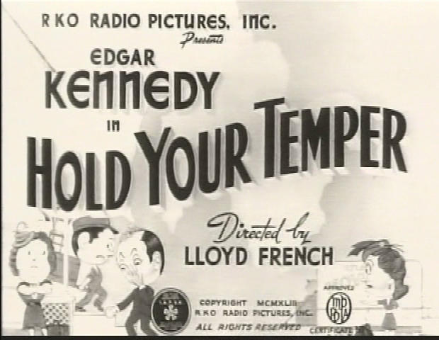 Hold Your Temper title card