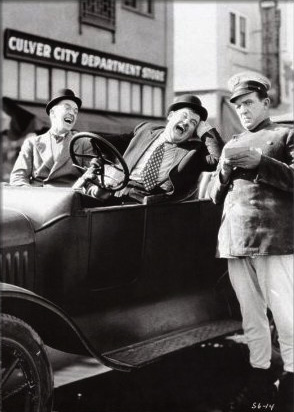 Edgar with Laurel and Hardy